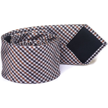 Abbigliamento Uomo Cravatte e accessori Hugo Boss Cravatta Tie6 Marrone/beige Seta Uomo marrone/beige