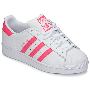 check out 3edc6 10aca Scarpe Bambina Sneakers basse adidas Originals SUPERSTAR J Bianco   Rosa