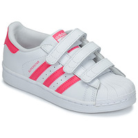 Scarpe Bambina Sneakers basse adidas Originals SUPERSTAR FOUNDATIO Bianco / Rosa