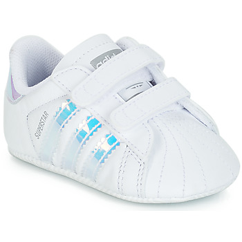 Scarpe Bambina Sneakers basse adidas Originals SUPERSTAR CRIB Bianco