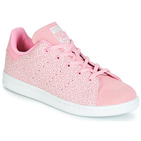 Scarpe Bambina Sneakers basse adidas Originals STAN SMITH C Rosa