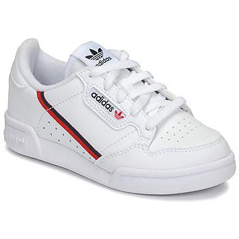 Scarpe Unisex bambino Sneakers basse adidas Originals CONTINENTAL 80 C Bianco