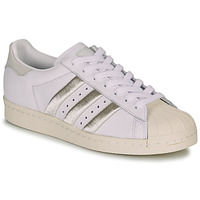 Scarpe Donna Sneakers basse adidas Originals SUPERSTAR 80s W Bianco / Beige
