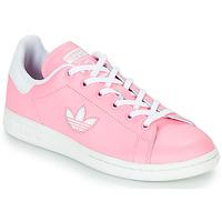 Scarpe Bambina Sneakers basse adidas Originals STAN SMITH J Rosa