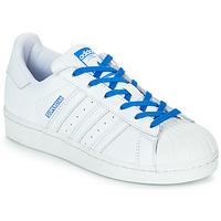 new product 78432 ef07c Scarpe Bambina Sneakers basse adidas Originals SUPERSTAR J Bianco   Blu