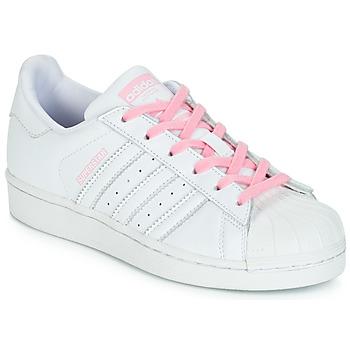 check out f95fb b1caf Scarpe Bambina Sneakers basse adidas Originals SUPERSTAR J Bianco   Rosa