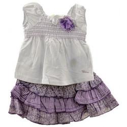 Abbigliamento Bambina Abiti corti Chicco CompletoNeonati bianco