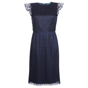 Abbigliamento Donna Abiti corti Lauren Ralph Lauren LACE CAP SLEEVE DRESS Marine
