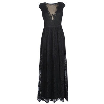 Abbigliamento Donna Abiti lunghi Lauren Ralph Lauren CAP SLEEVE LACE EVENING DRESS Nero