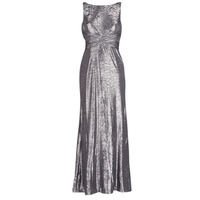 Abbigliamento Donna Abiti lunghi Lauren Ralph Lauren SLEEVELESS EVENING DRESS GUNMETAL Grigio / Argento