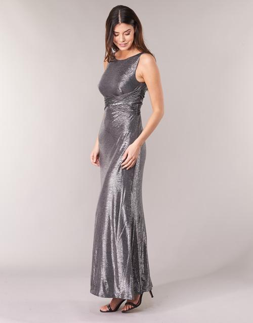 Abiti Evening Gratuita Dress Ralph Sleeveless Gunmetal Donna Abbigliamento GrigioArgento Lauren Lunghi 12950 Consegna N0v8nOmPyw