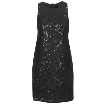 Abbigliamento Donna Abiti corti Lauren Ralph Lauren SEQUINED SLEEVELESS DRESS Nero