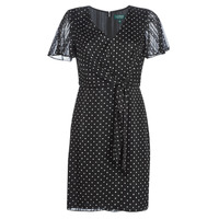 Abbigliamento Donna Abiti corti Lauren Ralph Lauren POLKA DOT-SHORT SLEEVE-DAY DRESS Nero