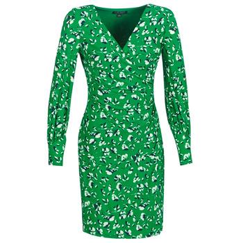 Abbigliamento Donna Abiti corti Lauren Ralph Lauren FLORAL PRINT-LONG SLEEVE-JERSEY DAY DRESS Verde