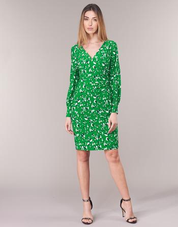 Lauren Ralph Lauren FLORAL PRINT-LONG SLEEVE-JERSEY DAY DRESS
