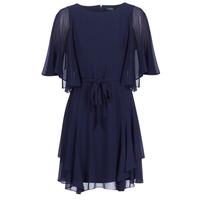 Abbigliamento Donna Abiti corti Lauren Ralph Lauren NAVY-3/4 SLEEVE-DAY DRESS Marine