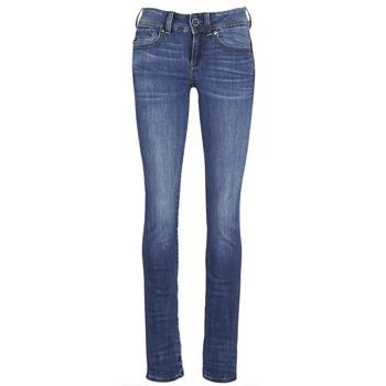 Abbigliamento Donna Jeans dritti G-Star Raw MIDGE SADDLE MID STRAIGHT Blu / Medium / Indigo