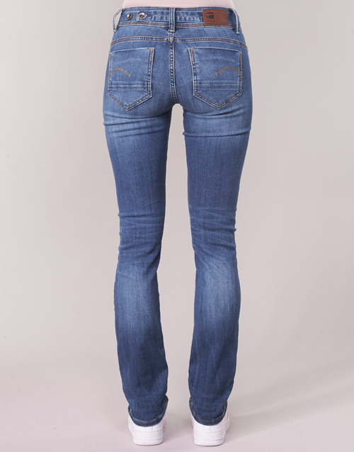 G-Star Raw MIDGE SADDLE MID STRAIGHT Blu / Medium / Indigo - Consegna gratuita  Abbigliamento Jeans dritti Donna 12000