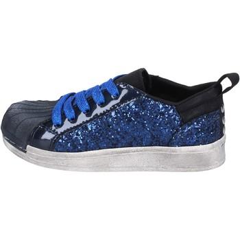 Scarpe Bambina Sneakers basse Holalà sneakers blu glitter vernice BT330 blu