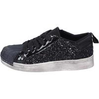 Scarpe Bambina Sneakers basse Holalà sneakers nero glitter vernice BT331 Nero