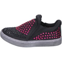 Scarpe Bambina Slip on Lulu slip on nero tessuto strass BT332 Nero