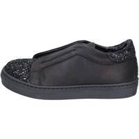 Scarpe Bambina Slip on Holalà sneakers nero pelle glitter BT357 Nero
