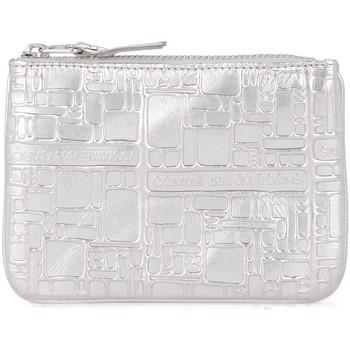 Borse Donna Pochette / Borselli Comme Des Garcons Bustina in pelle argento stampata Argento