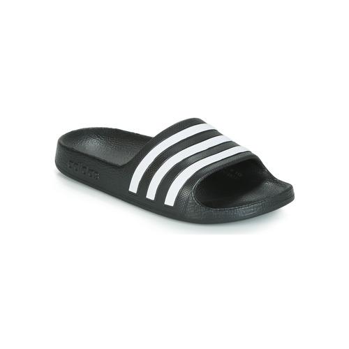 Scarpe Unisex bambino ciabatte adidas Performance ADILETTE AQUA K Nero / Bianco