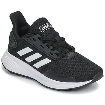 Scarpe Unisex bambino Running / Trail adidas Originals DURAMO 9 K Nero / Bianco