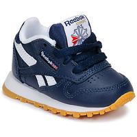 Scarpe Bambino Sneakers basse Reebok Classic CLASSIC LEATHER Blu / Bianco