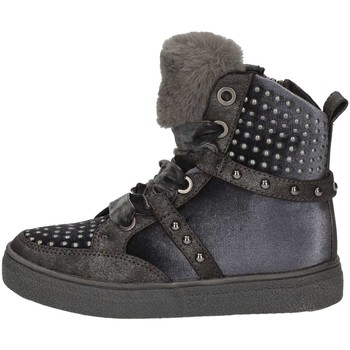 Scarpe Bambina Sneakers alte Asso AG-253 NERO