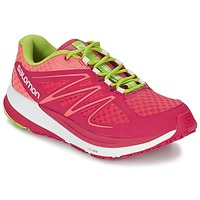 Scarpe Donna Running / Trail Salomon SENSE PULSE WOMAN Rosa / Arancio / Verde