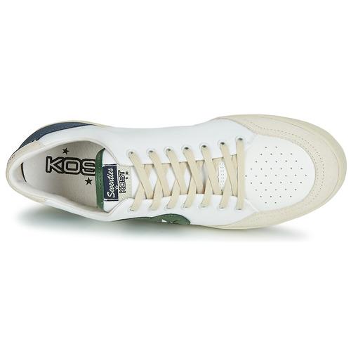 Basse EcruVerde 14 Sneakers Kost Seventies Blu kwO08PnX
