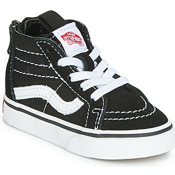 Scarpe Unisex bambino Sneakers alte Vans SK8-HI ZIP Nero / Bianco