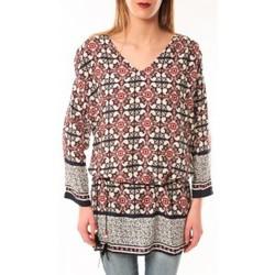Abbigliamento Donna T-shirts a maniche lunghe De Fil En Aiguille Robe Noémie & Co E1403-37 Noir/Rouge Nero