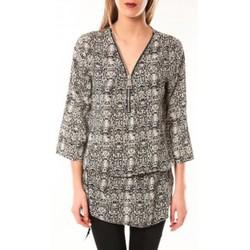 Abbigliamento Donna Vestiti De Fil En Aiguille Robe Noémie & Co E1485-13 Noir/Blanc Nero