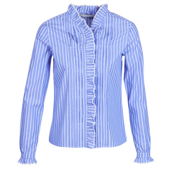 Abbigliamento Donna Camicie Maison Scotch LONG SLEEVES SHIRT Blu / Clair