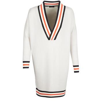 Abbigliamento Donna Maglioni Maison Scotch WHITE LONG SLEEVES Bianco / Crema