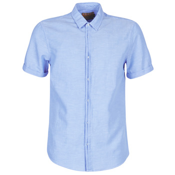 Abbigliamento Uomo Camicie maniche corte Scotch & Soda REGULAR FIT AMS BLAUW ALLOVER PRINT SHIRT IN SEASONAL PATTER Blu