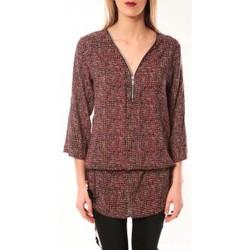 Abbigliamento Donna T-shirts a maniche lunghe De Fil En Aiguille Robe Noémie & Co E1485-37 Rose/Noir Rosa