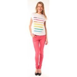 Abbigliamento Donna T-shirt maniche corte Little Marcel T-shirt E15FTSS0122 Tola Blanc Bianco