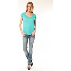 Abbigliamento Donna T-shirt maniche corte Little Marcel T-Shirt Talin E15FTSS0116 Bleu Turquoise Blu