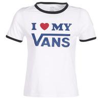 Abbigliamento Donna T-shirt maniche corte Vans VANS LOVE RINGER Bianco