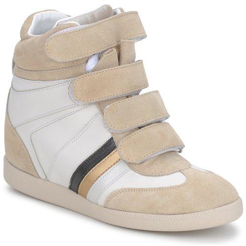 Serafini MANATHAN SCRATCH Bianco/ beige / blu  Scarpe Sneakers alte Donna 147