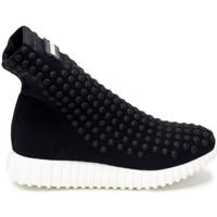 Scarpe Donna Sneakers alte Gioselin LIGHT STUDS BLACK Nero
