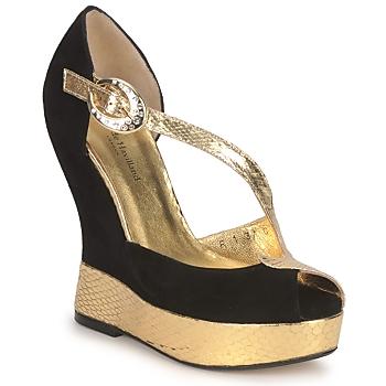 Scarpe Donna Sandali Terry de Havilland PENNY Nero- oro
