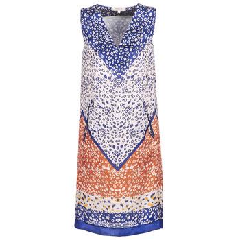 Abbigliamento Donna Abiti corti Derhy FORTERESSE Bianco / Blu / Arancio