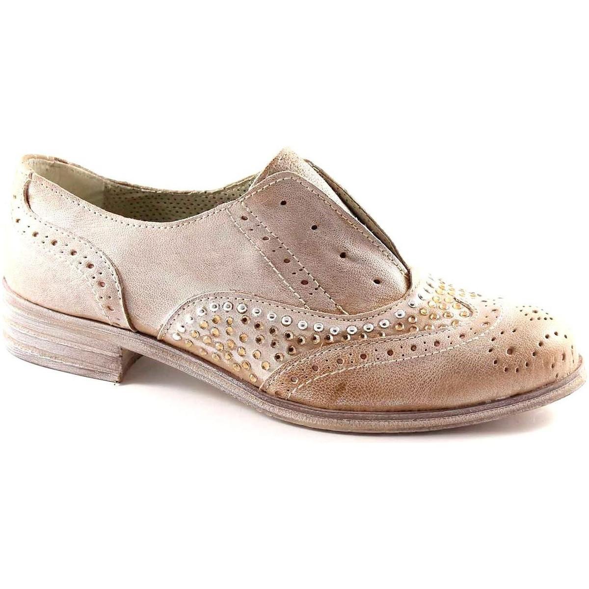 Divine Follie 829B taupe scarpa donna inglesina elastico strass Beige -  Consegna gratuita con Spartoo.it ! - Scarpe Richelieu Donna 92,00 €