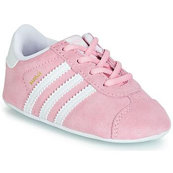 Scarpe Unisex bambino Sneakers basse adidas Originals GAZELLE CRIB Rosa