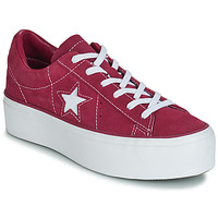 Scarpe Donna Sneakers basse Converse ONE STAR PLATFORM SUEDE OX Fucsia / Bianco